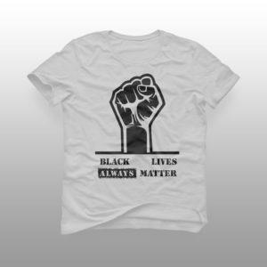 camiseta black lives matter branca