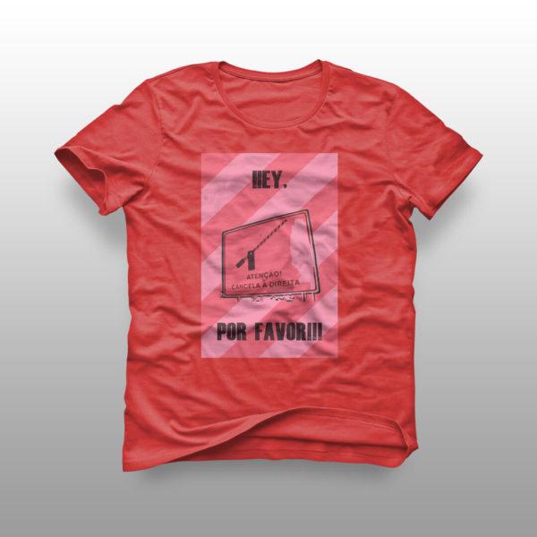 camiseta cancela vermelha
