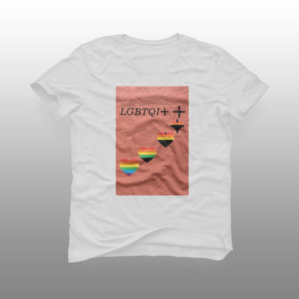 camiseta lgbtiq branca
