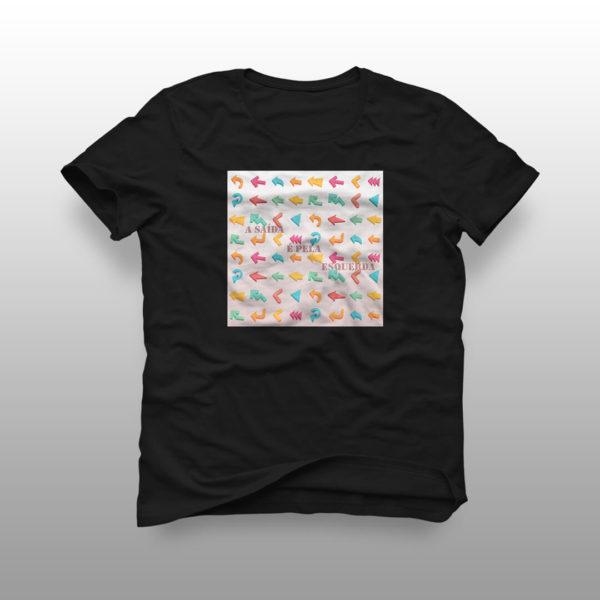 camiseta saida preta