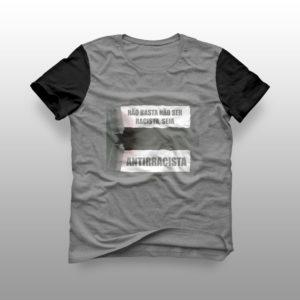 camiseta seja antirracista raglã