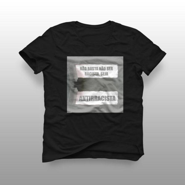 camiseta seja antirracista preta