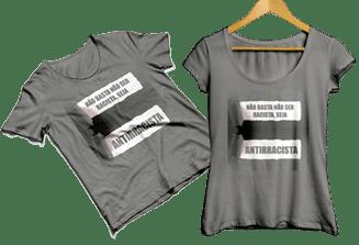 camiseta seja antirracista